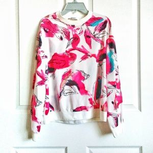 DKNYC Abstract Print Blouse